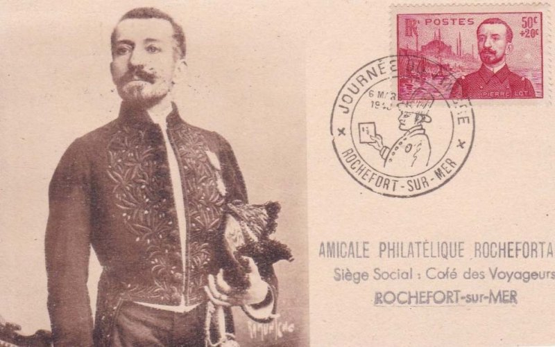 Loti timbre 1937 Amicale philatélique Rochefort