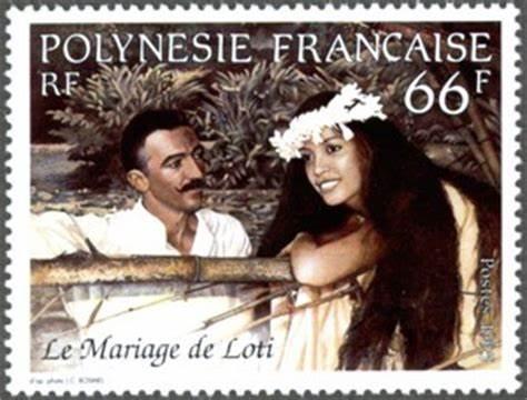 Loti timbre 1995 66 F Polynésie française Mariage Loti