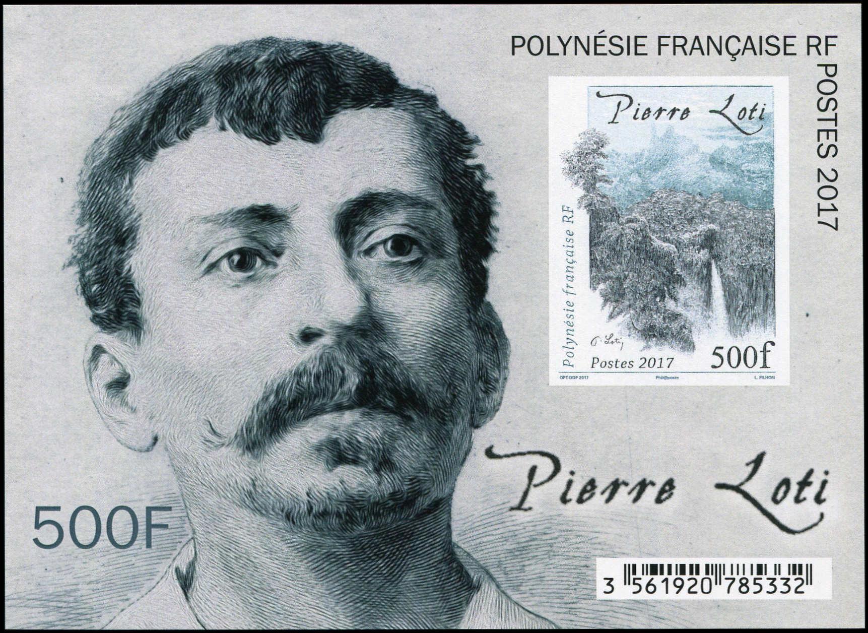 Loti timbre 2017 500 F Polynésie française.