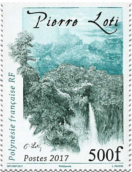 Loti timbre 2017 500 F Polynésie française