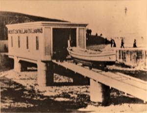 Le garage du canot de sauvetage à Socoa. Coll. SNSM