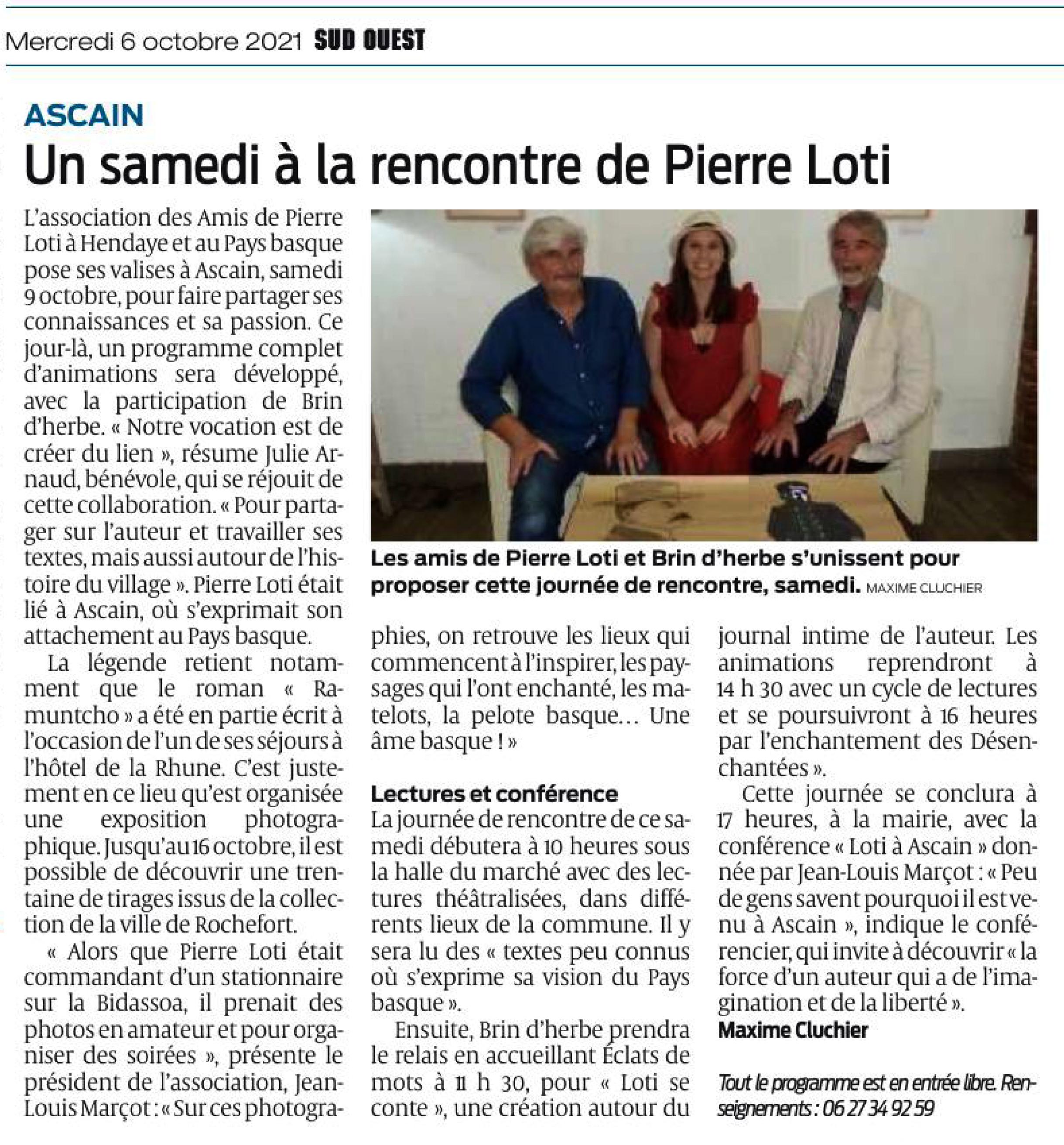 Un samedi à la rencontre de Pierre Loti-6-10-2021